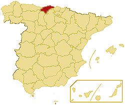 LatLon Coordinates Autonomous community Cantabria